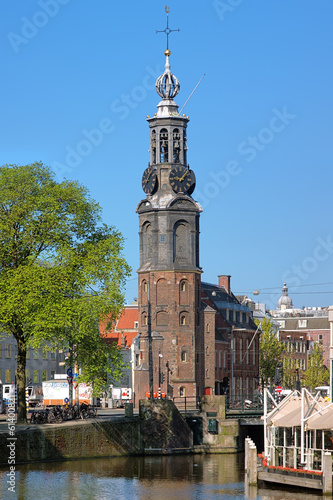 Coin Tower (Munttoren) in Amsterdam, Netherlands