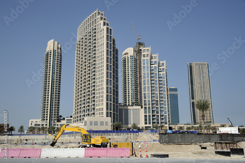 Construction Site Dubai Building Skyscrapers