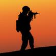 Постер, плакат: солдат