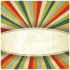 retro colors striped old background - vector illustration
