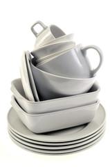 La vaisselle blanche