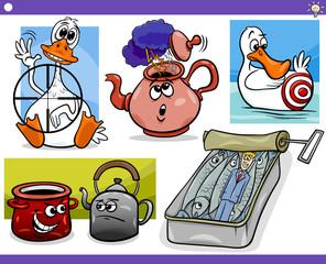 cartoon concepts and ideas set