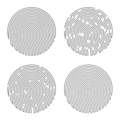Black Isolated Fingerprint