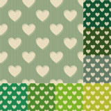 seamless green and blue heart background pattern