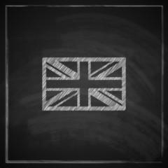 british union jack flag with chalkboard texture