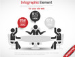 INFOGRAPHIC OFFICE MAN BUSINESS RED