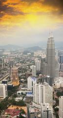 Modern skyline of Kuala Lumpur