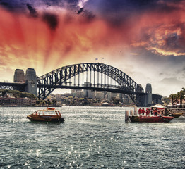 Sydney Harbour Bridge in winter season