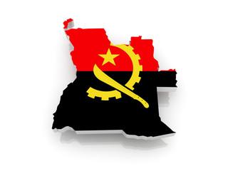 Map of Angola.
