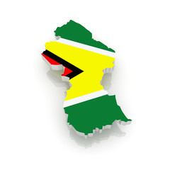 Map of Guyana.