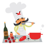 Italian cook character - 61404093