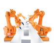 canvas print picture - Industrial robots
