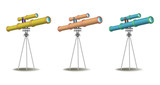 Set of three telescopes