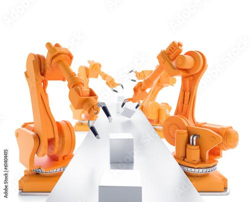 canvas print picture Industrial robots