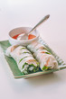 Vietnamese spring rolls with chili sauce