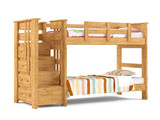 Bunk bed isolated at the white background