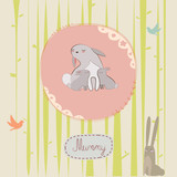 Mothers day print with bunny - 61405009
