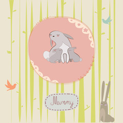 Mothers day print with bunny