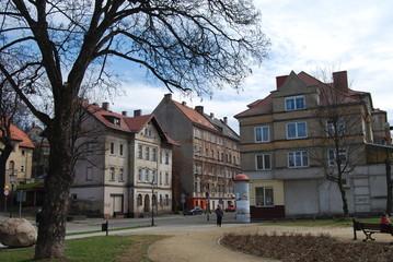 huizen in Pools stadje
