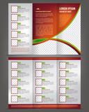 Vector empty trifold brochure print template design, menu poster