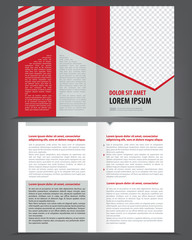 Vector empty bifold brochure print design template