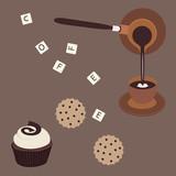 Turkish coffee and cake - 61405483