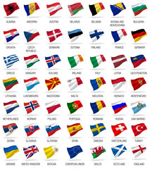flags of all european countries