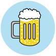 bier glas illustration icon