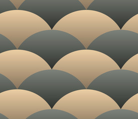 Ornate Geometric Petals Grid, Abstract Vector Seamless Pattern