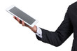businessman Hand holding tablet