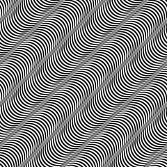 Op Art Design Stripes Appears to Tilt Vector Seamless Pattern