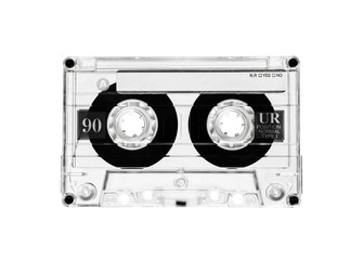 cassette tape black and white