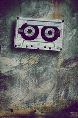 grunge cassette tape