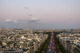 The Champs Elysees at Sunset, Paris