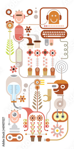 Flowers lab vector illustration