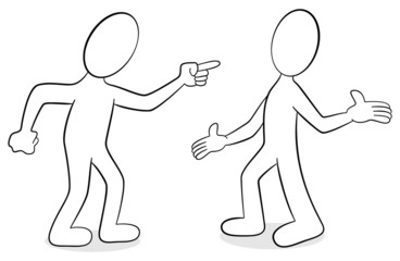 zwei die sich streiten