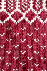 maglia di lana rossa