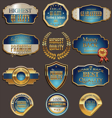 Set of premium golden labels