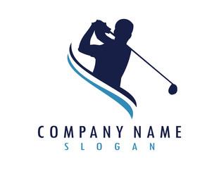 Golfer logo