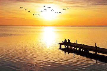 Compartiendo el amanecer dorado