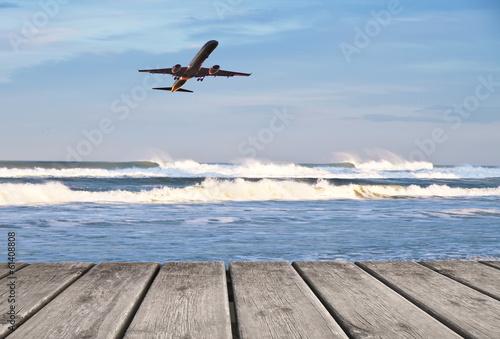 Fotobehang Een Hoekje om te Dromen de vacaciones en avión