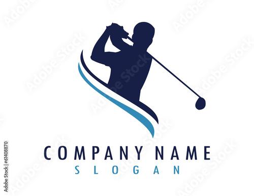 Golfer logo - 61408870