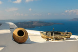 Old boat in Thira, Santorini island, Greece