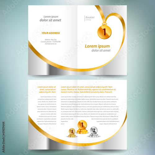 booklet catalog brochure design template vector folder leaflet