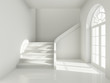 Architectural design of corridor with staircase