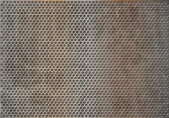 muro di metallo vintage