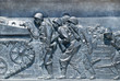 World War II memorial,infantry scene detail,Washington D.C
