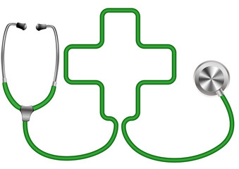 medical stethoscope with cross