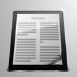 tablet ebook curled page