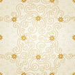 Ornamental seamless pattern with small flowers and curls.